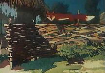 Крашеный лис