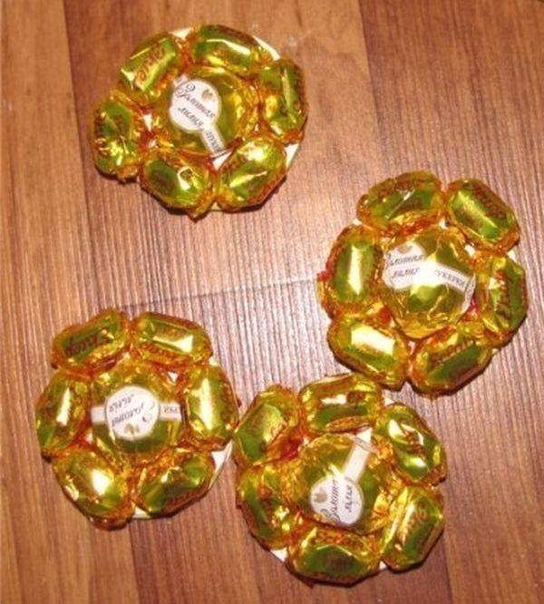 Оформление конфетами