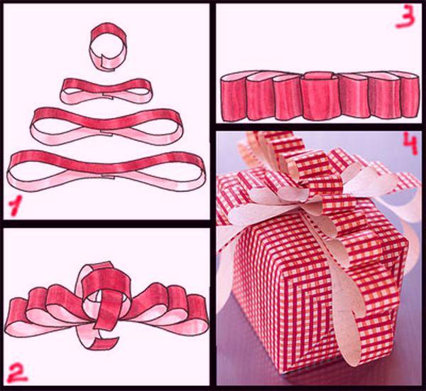 Как сделать бантик из ленточки