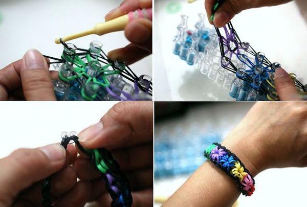 как сделать браслет из резинок звёздочка