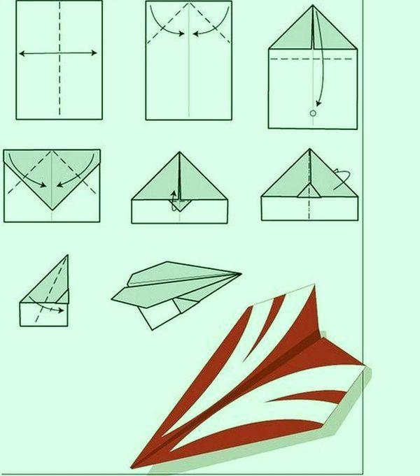 183Объемная Как сделать Самолеты из бумаги сделать