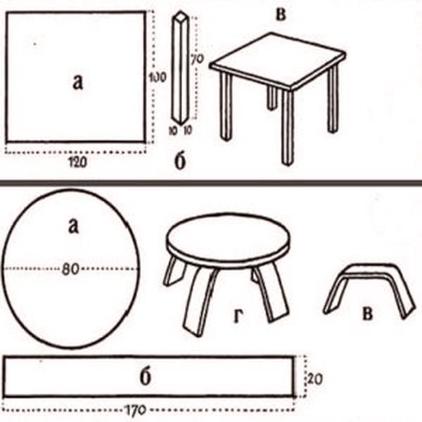 стол для кукол