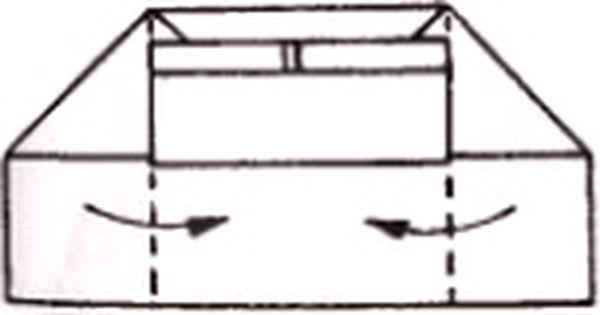 Сворачивание боковых частей фигуры