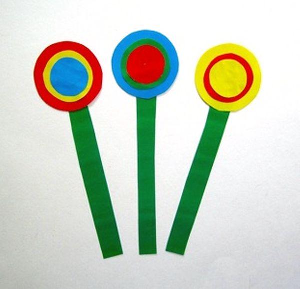 Цветы из кружков