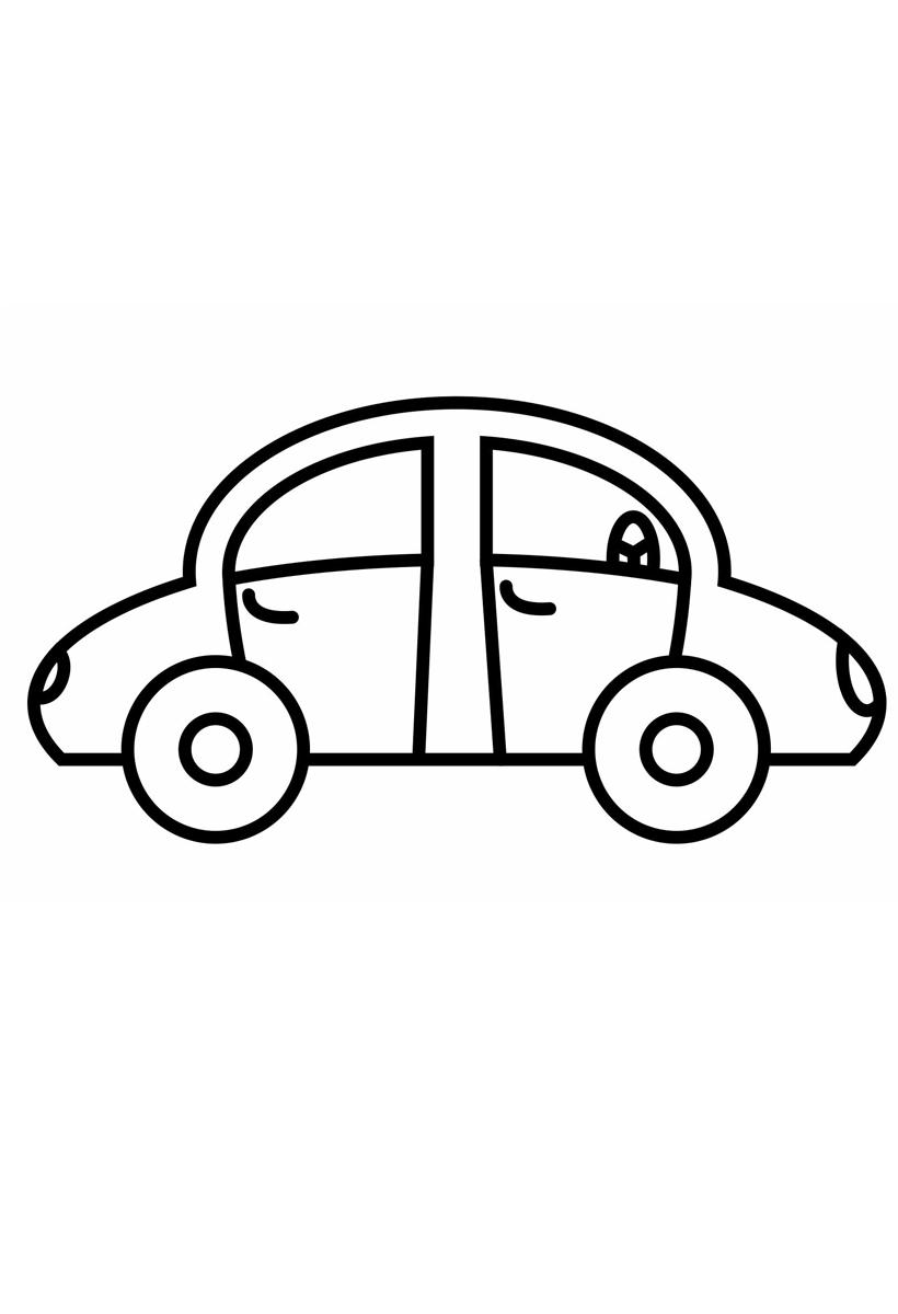 Раскраска Машина распечатать или скачать бесплатно