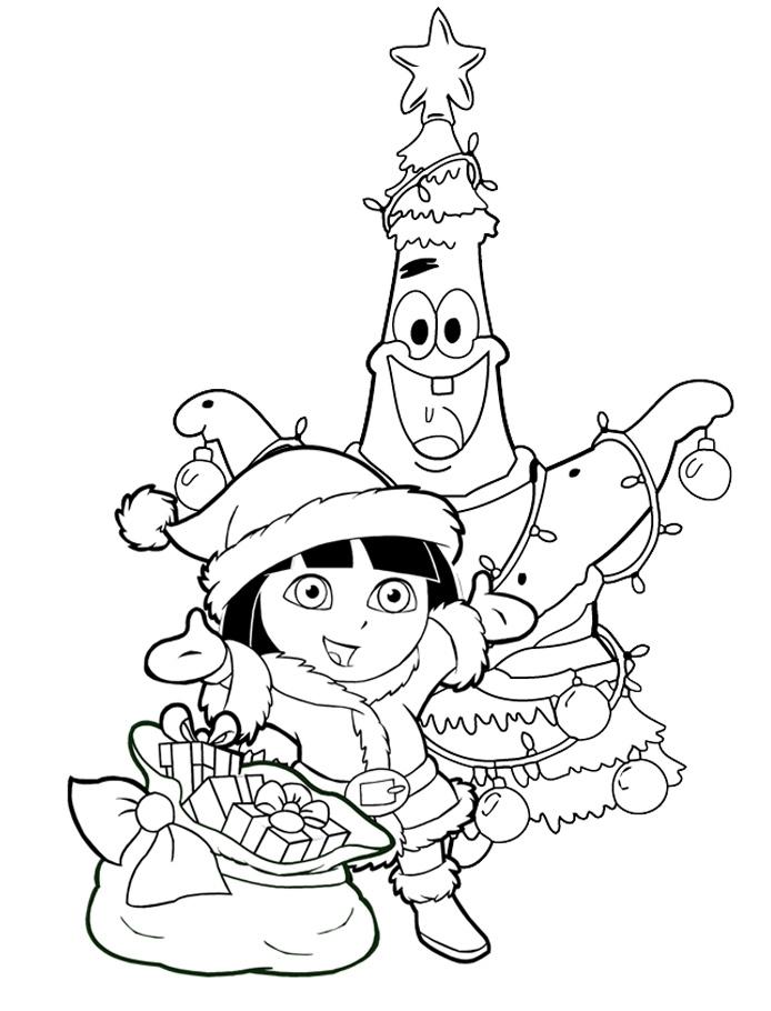 Раскраска Патрика украсили как елку на Новый год ...