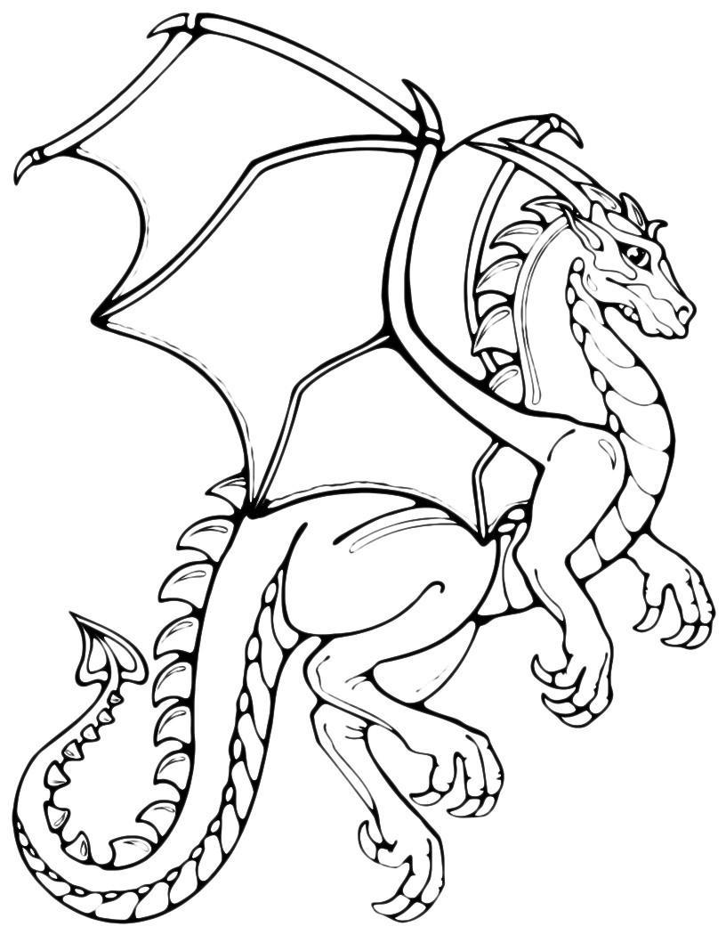 Раскраска Королевский дракон распечатать или скачать бесплатно
