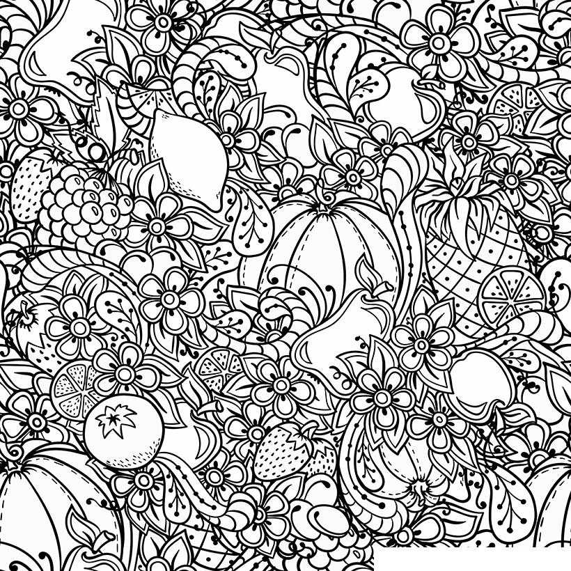Раскраска Антистресс Осень и тыквы распечатать или скачать ...