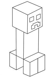 Раскраска Паук из Майнкрафт распечатать или скачать бесплатно