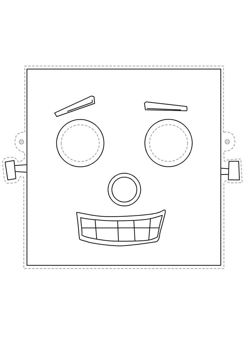 Раскраска Маска робот распечатать или скачать бесплатно
