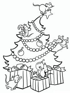 Раскраска Елка с шариками распечатать или скачать бесплатно
