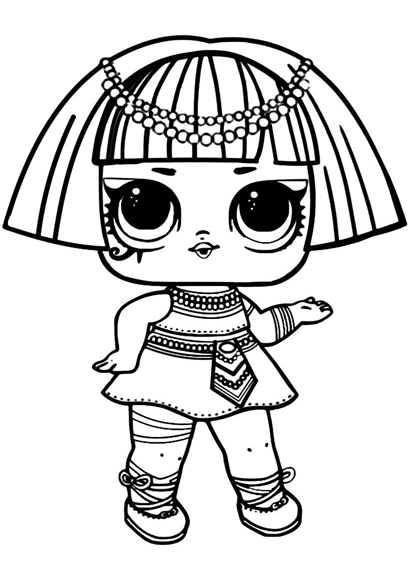 Раскраска ЛОЛ старшая сестричка Фараон распечатать или ...