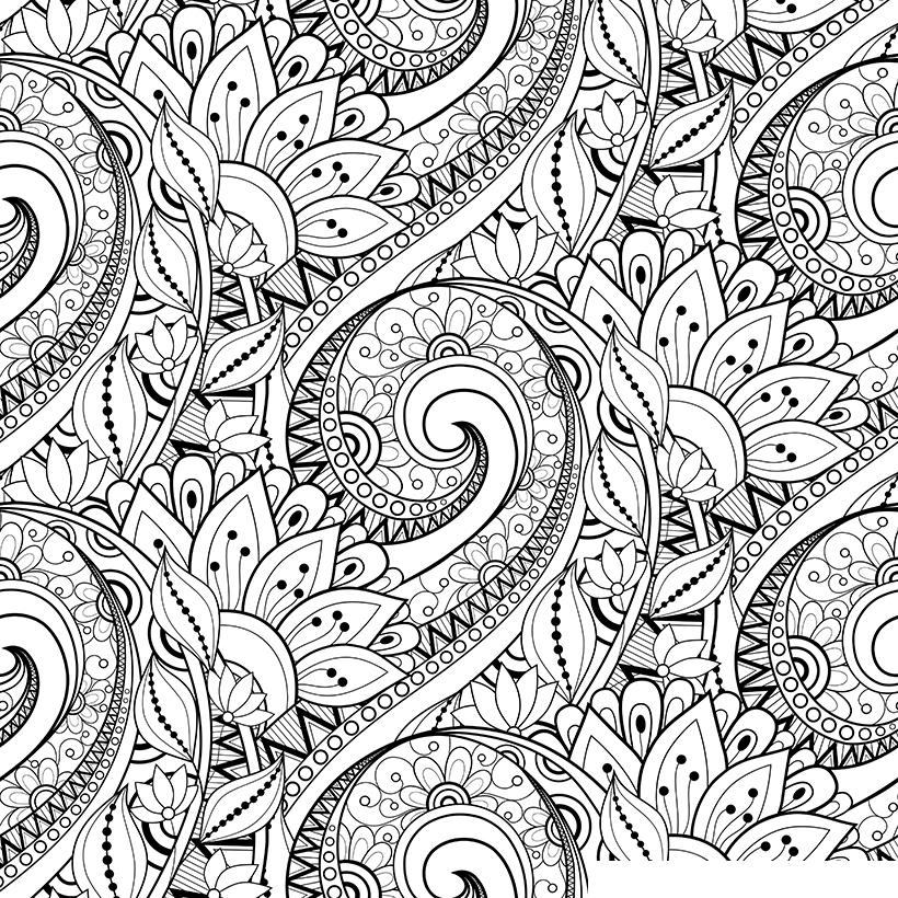 Раскраска Антистресс Цветы распечатать или скачать бесплатно