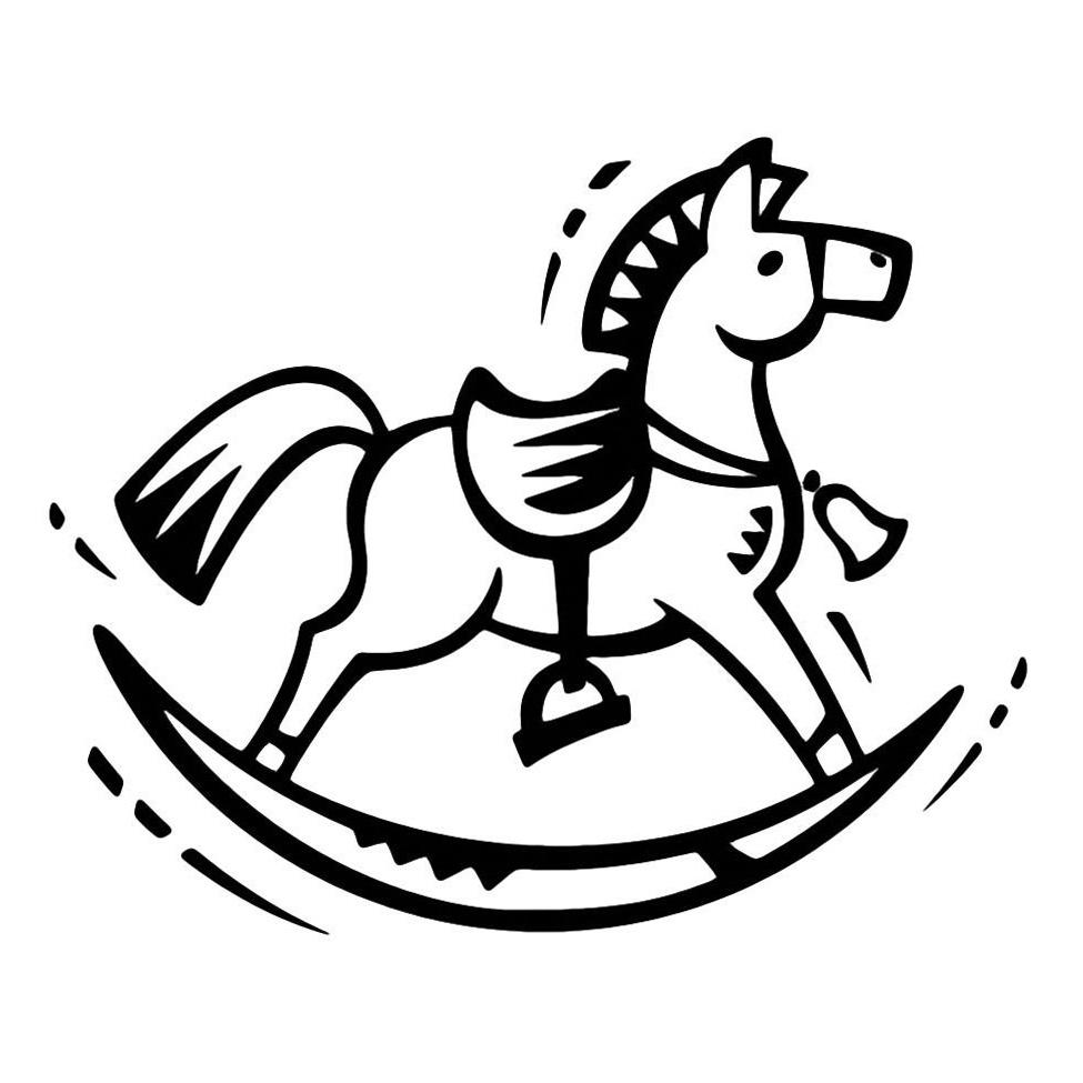 раскраска игрушка лошадь распечатать или скачать бесплатно