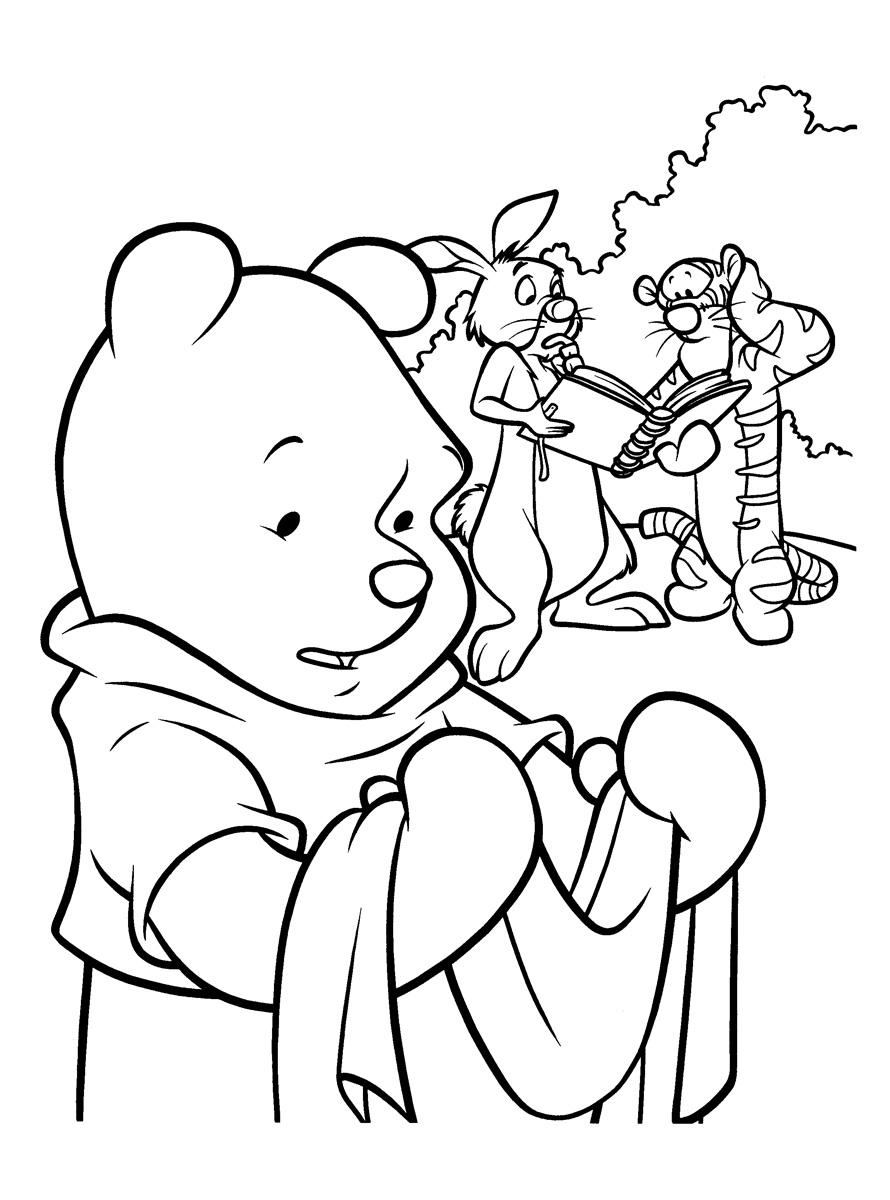 Раскраска Винни-Пух и его друзья распечатать или скачать ...