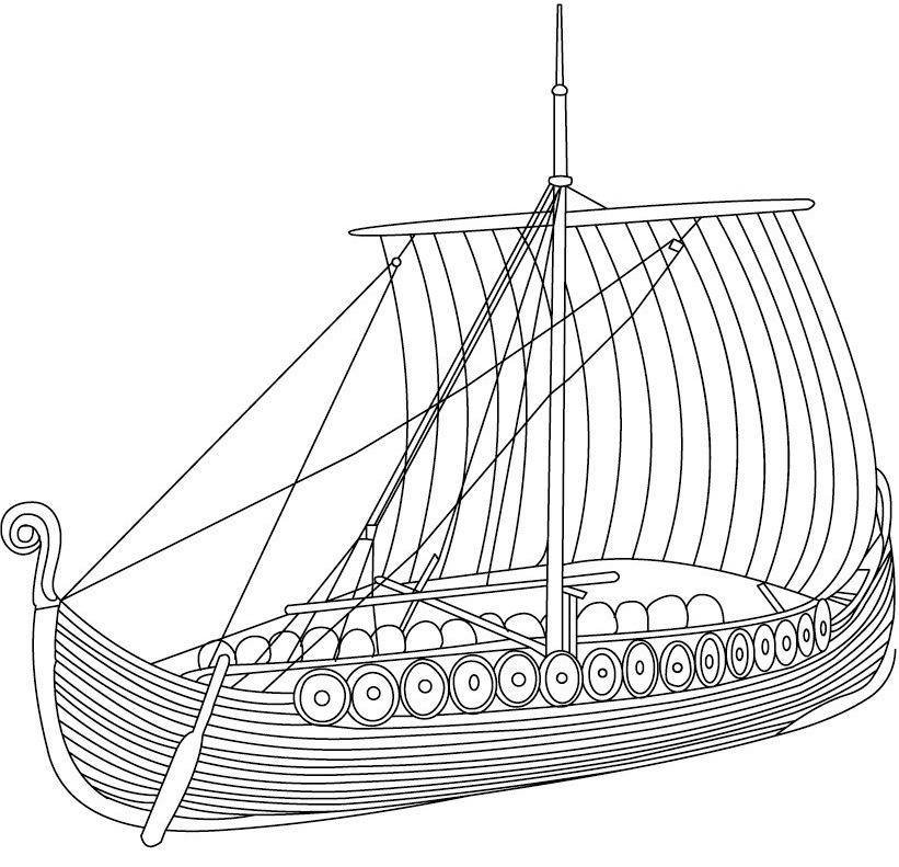 Картинка корабля викингов нарисовать