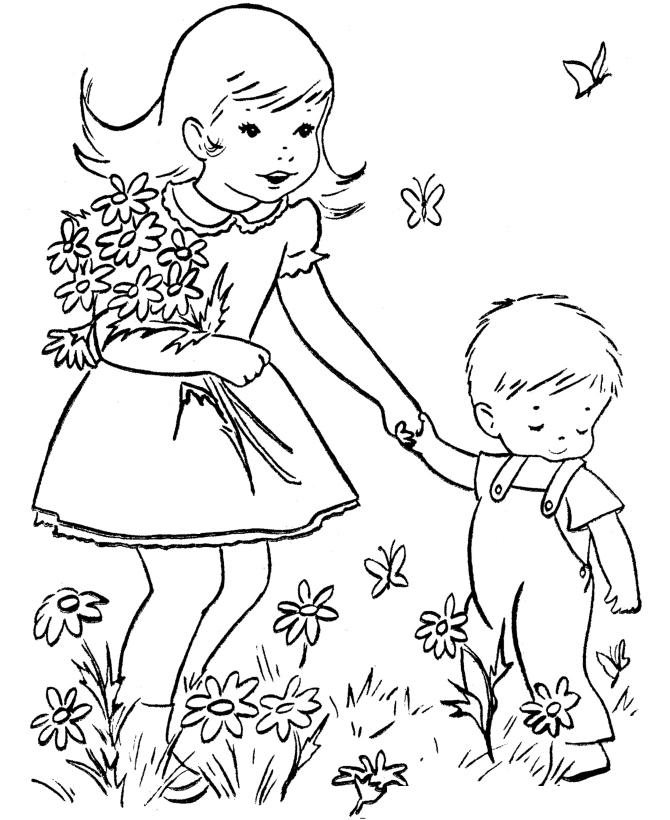 Раскраска Цветы 8 марта распечатать или скачать бесплатно