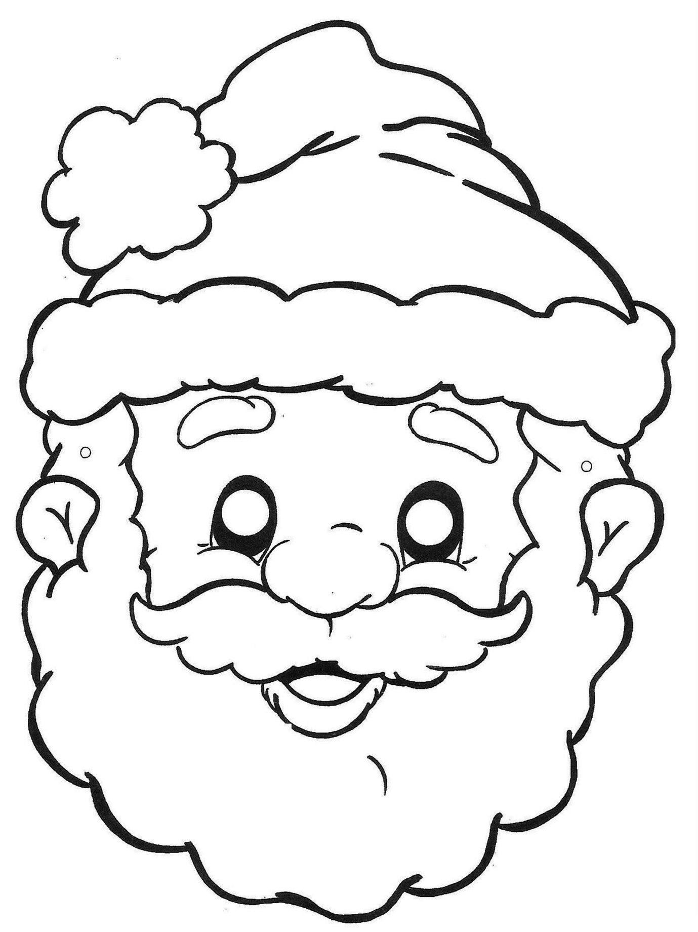 Дед мороз картинки для раскрашивания лицо ханг