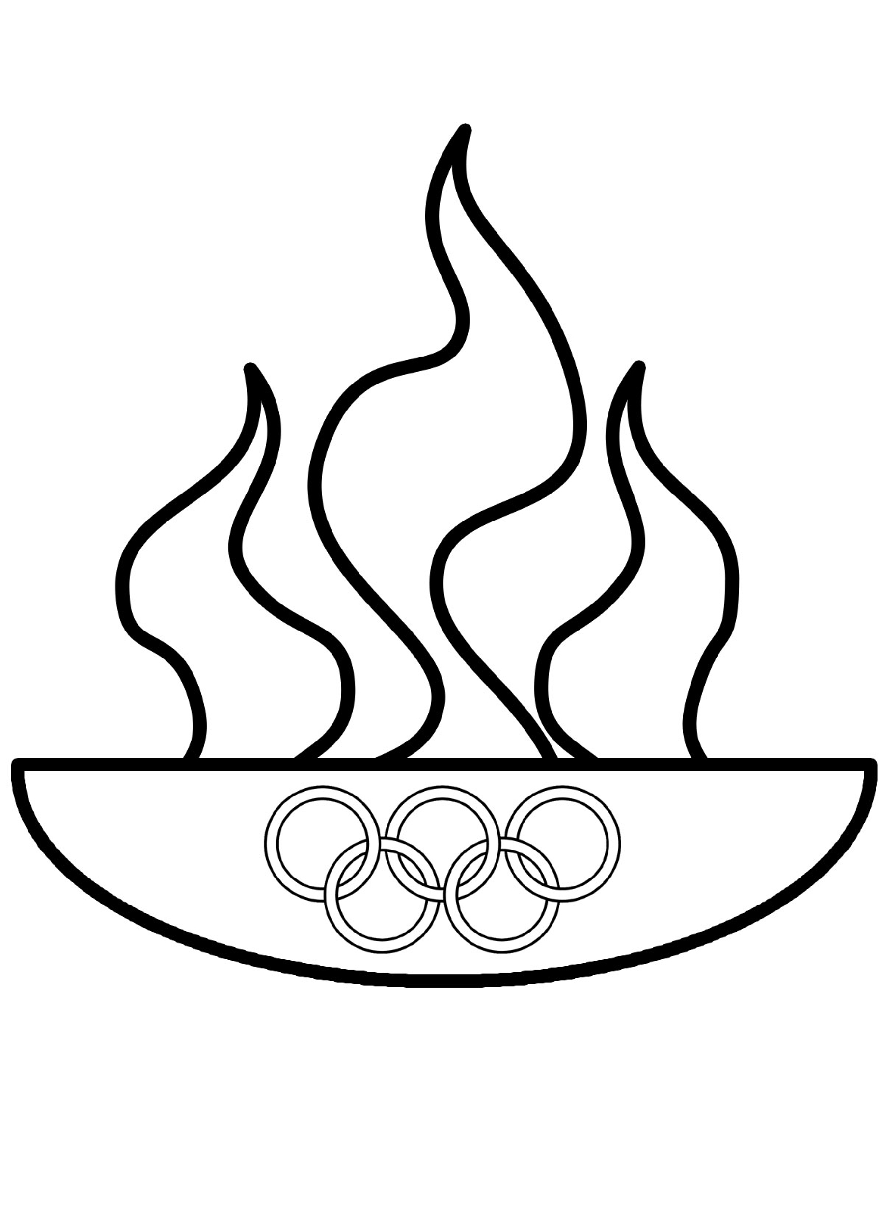 Раскраска олимпийский огонь распечатать или скачать бесплатно