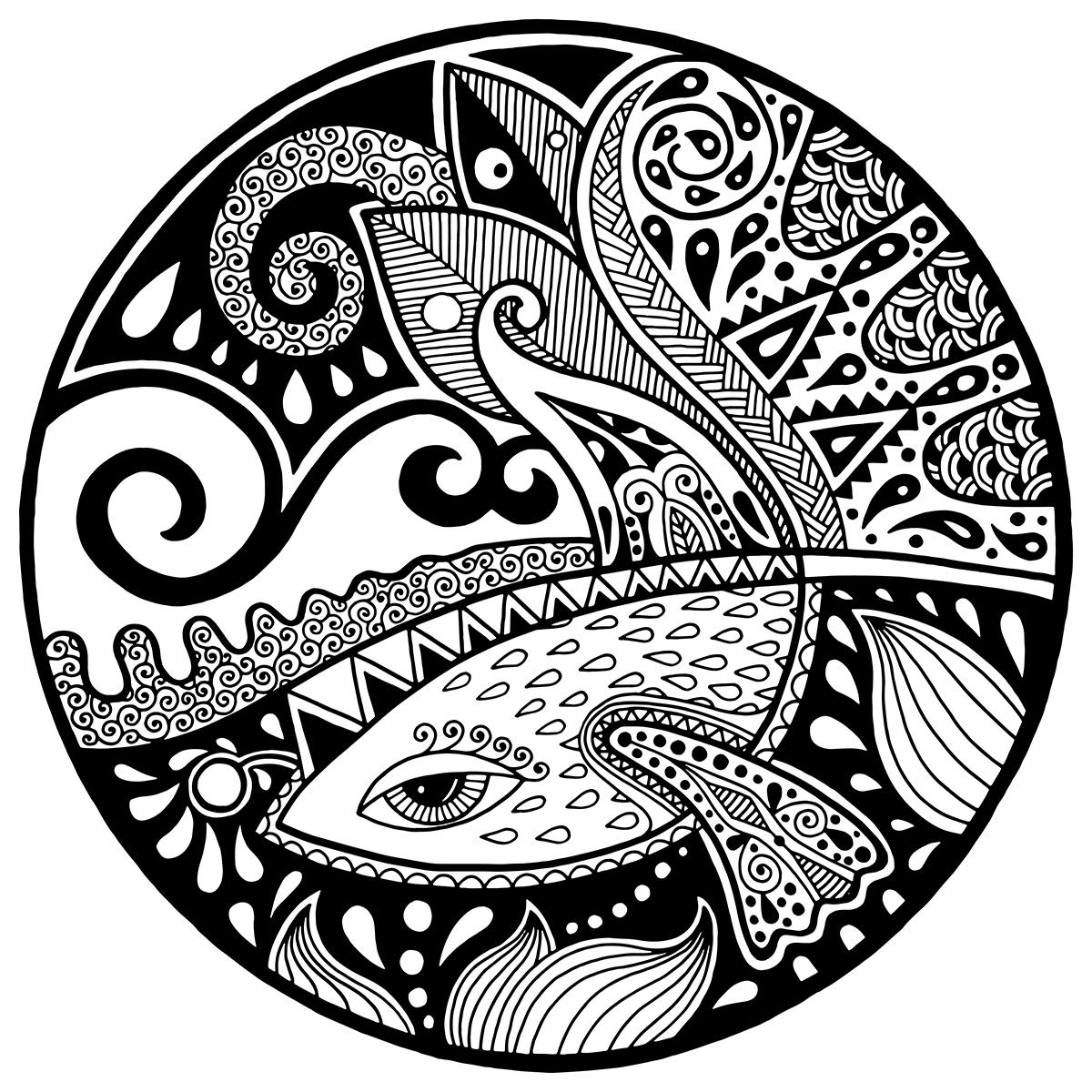 Раскраска Зендала Русалка распечатать или скачать бесплатно