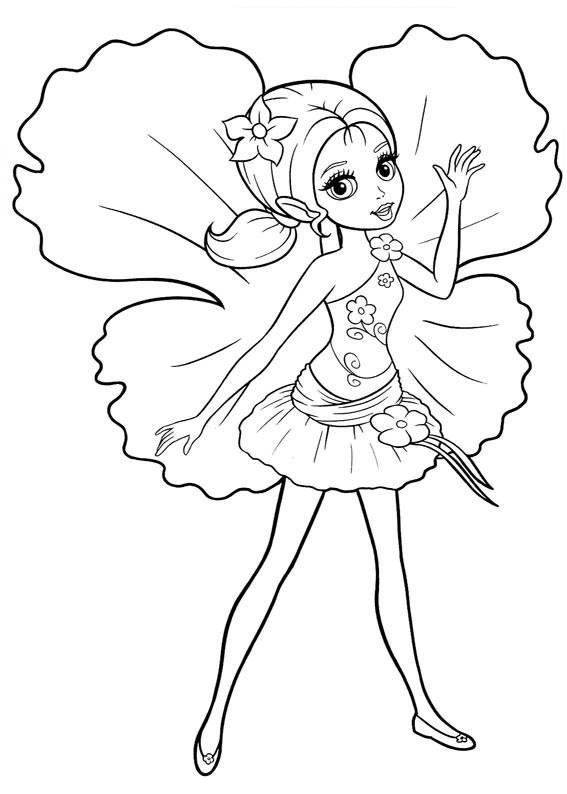 Раскраска Маленькая принцесса распечатать или скачать ...