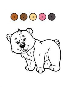 Раскраска Зебра по цифрам распечатать или скачать бесплатно