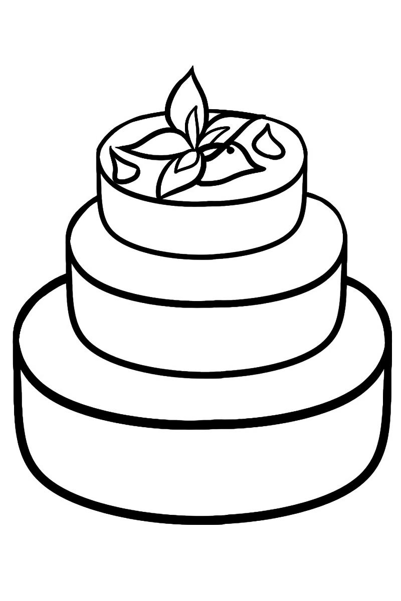 Раскраска Торт распечатать или скачать бесплатно