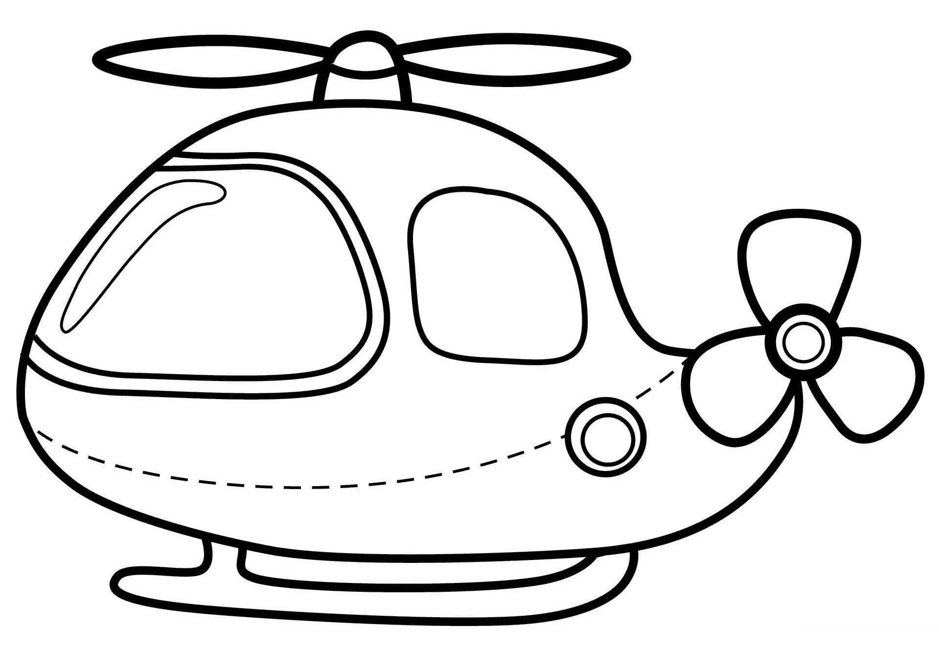 Раскраска Вертолёт распечатать или скачать бесплатно