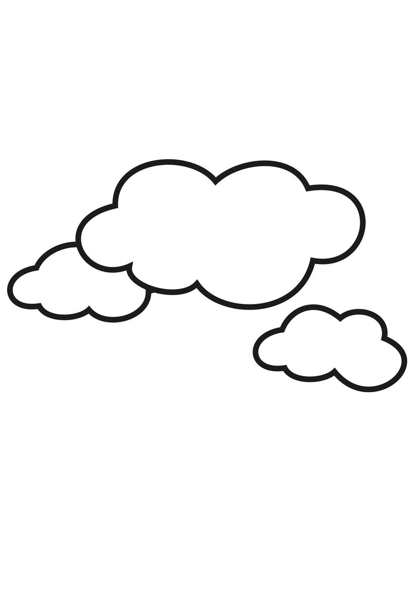 Раскраска Облака распечатать или скачать бесплатно