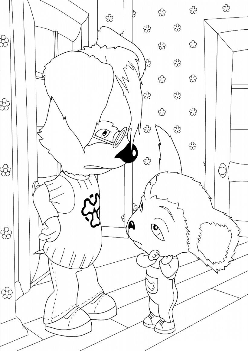 Раскраска Малыш с Дружком распечатать или скачать бесплатно