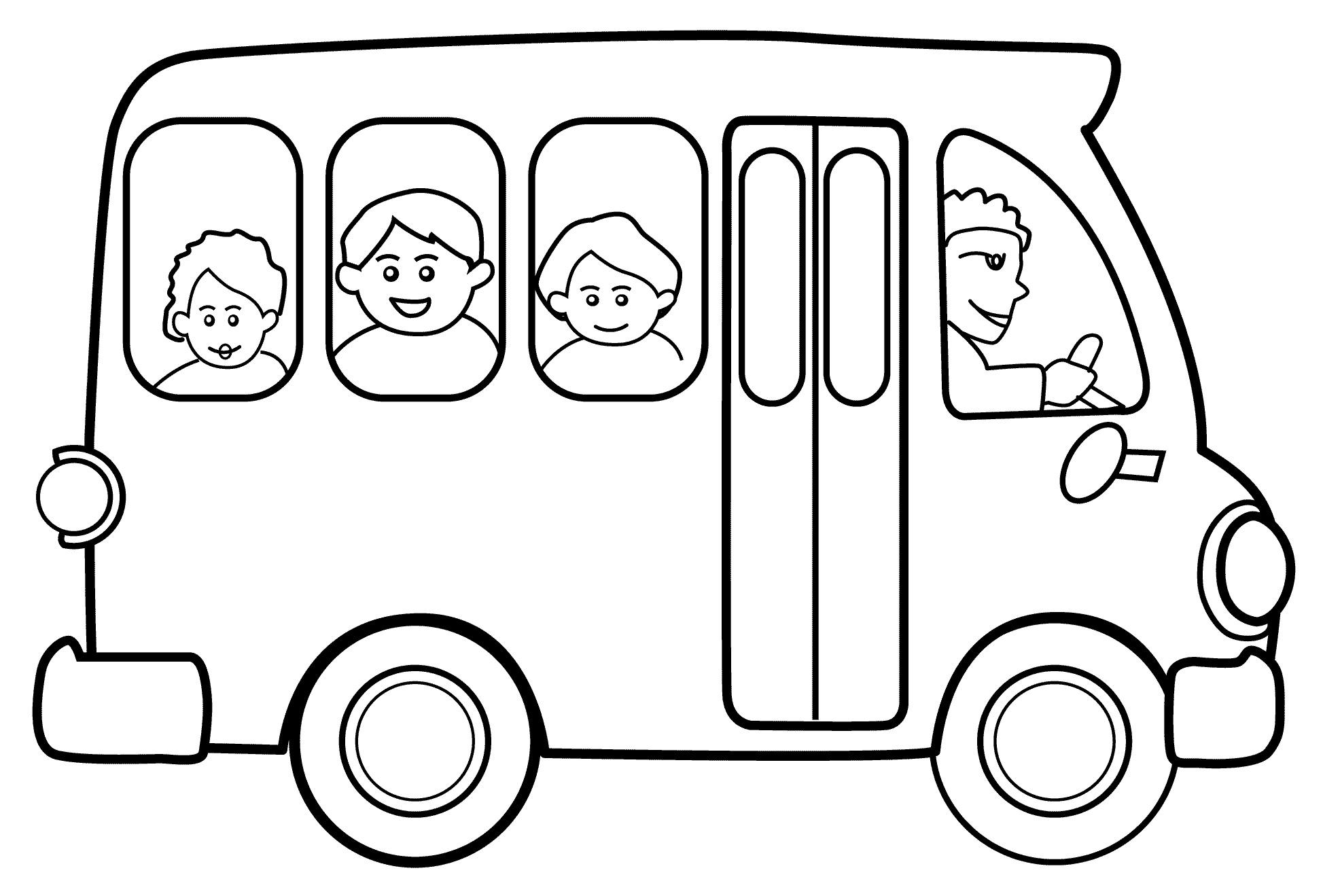 Раскраска Школьный автобус распечатать или скачать бесплатно