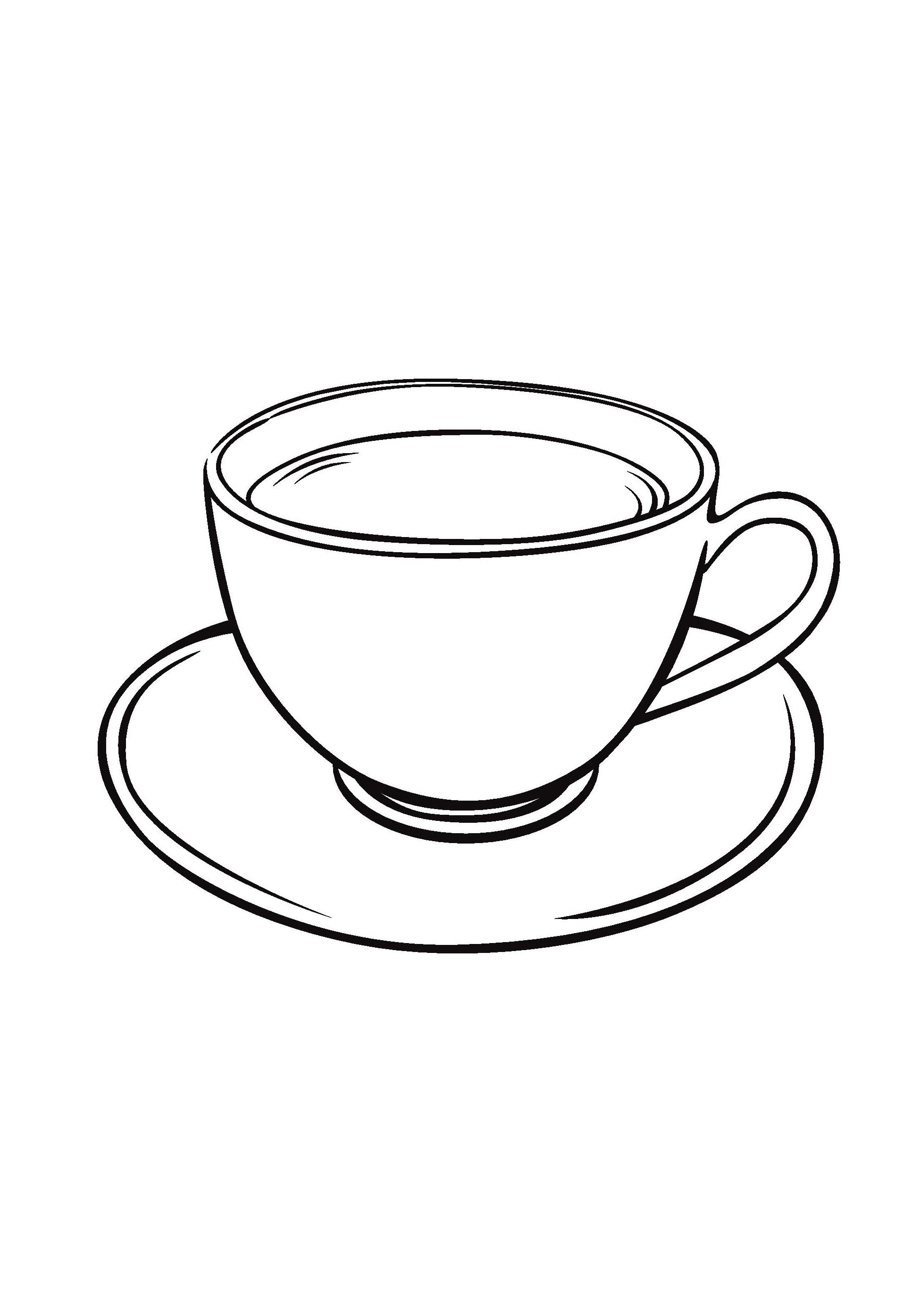 Раскраска Чашка распечатать или скачать бесплатно