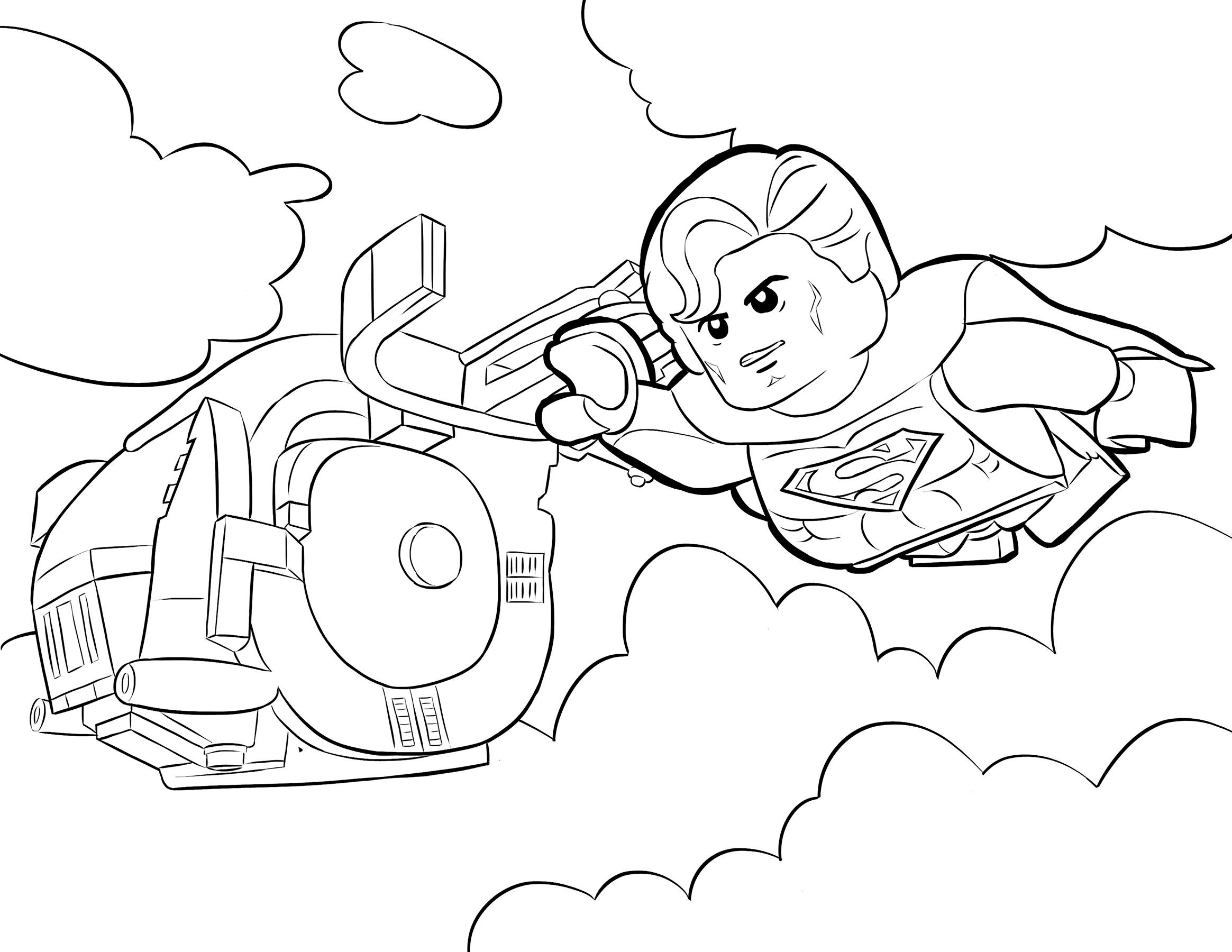 Раскраска Супермен распечатать или скачать бесплатно