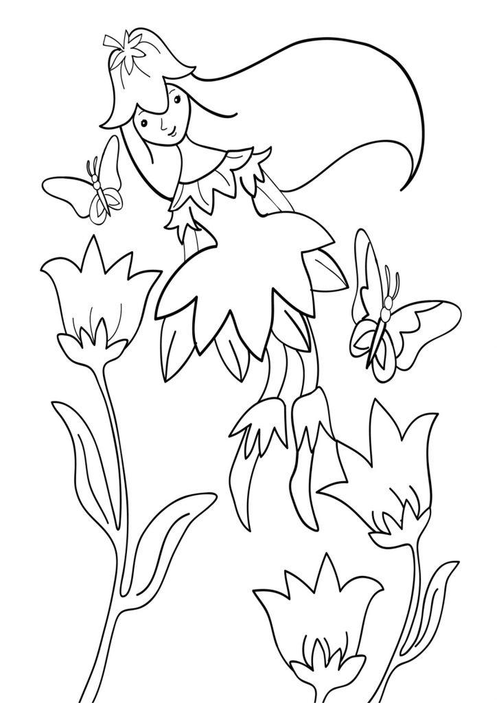 Раскраска Фея Весна распечатать или скачать бесплатно