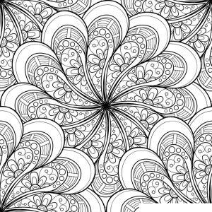 Раскраска Антистресс Солнечные цветы распечатать или ...
