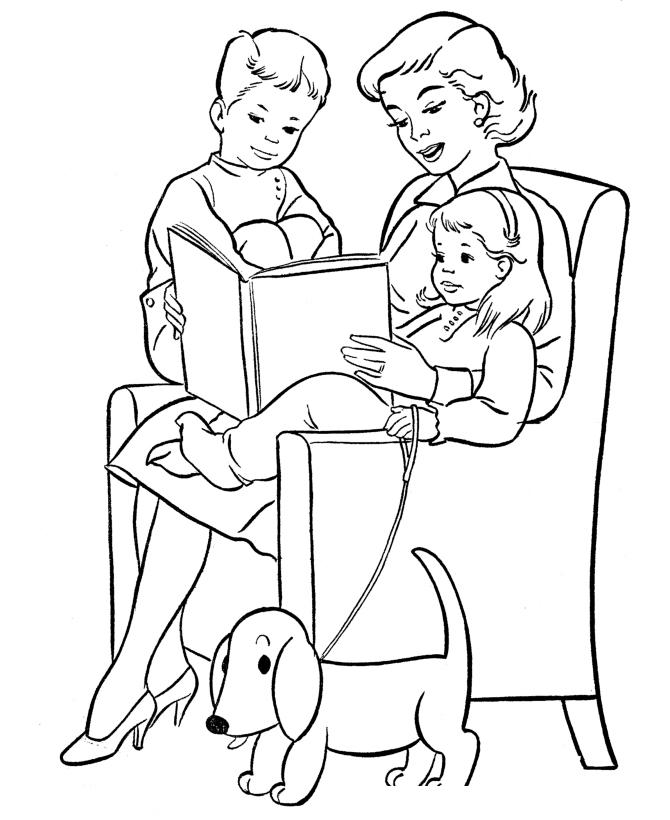 Раскраска Любимая мама 8 марта распечатать или скачать ...