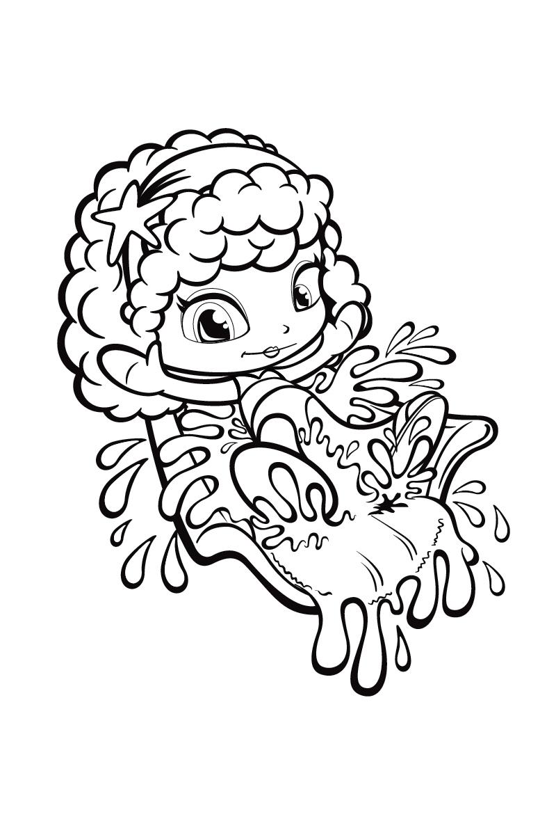 Раскраска Кукла Пинипон распечатать или скачать бесплатно
