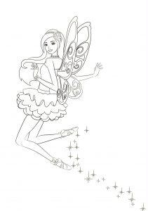 Раскраска Барби с любимой гитарой распечатать или скачать ...