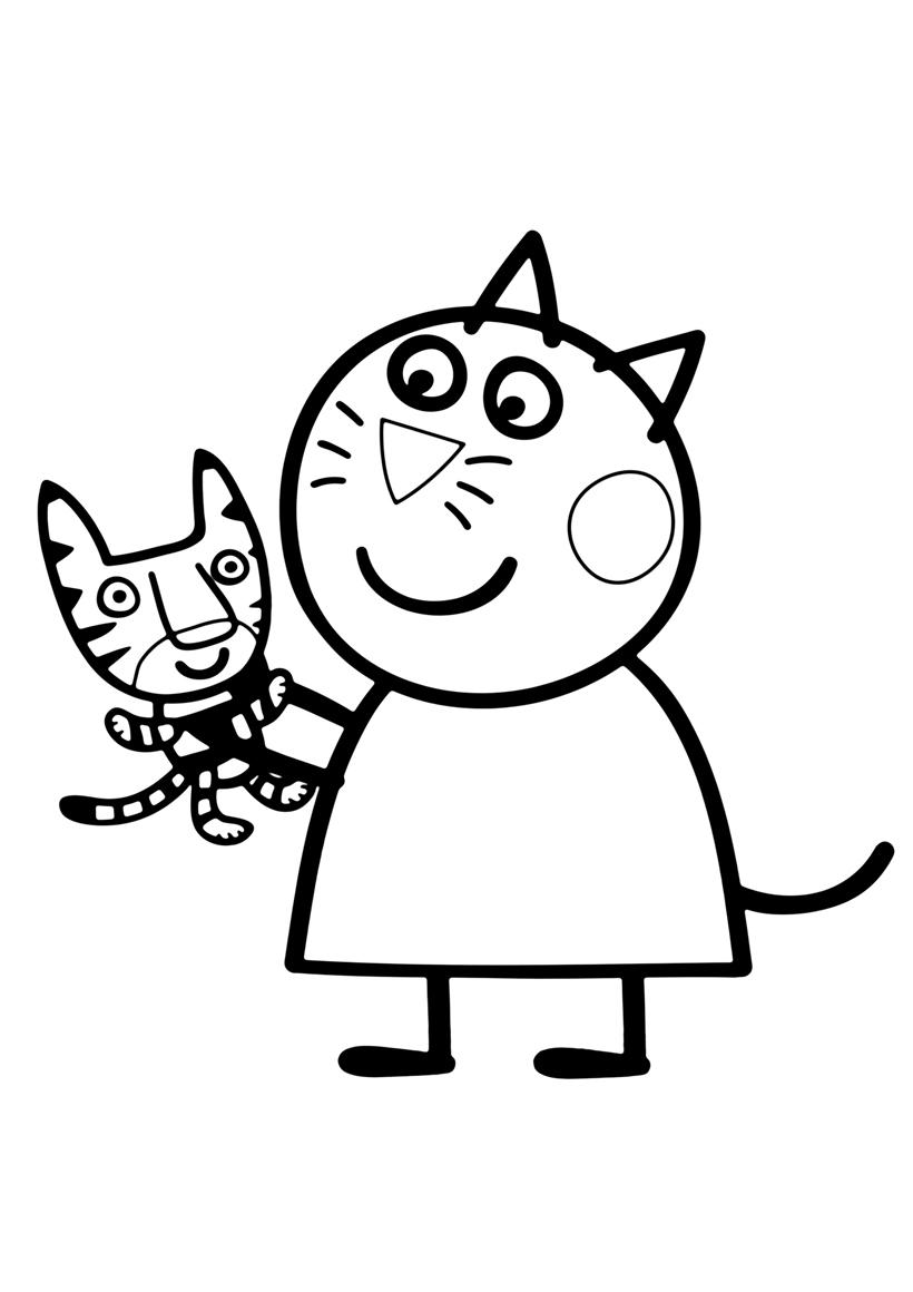 Раскраска Кошка Кэнди распечатать или скачать бесплатно