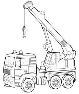 Раскраска Трактор распечатать или скачать бесплатно