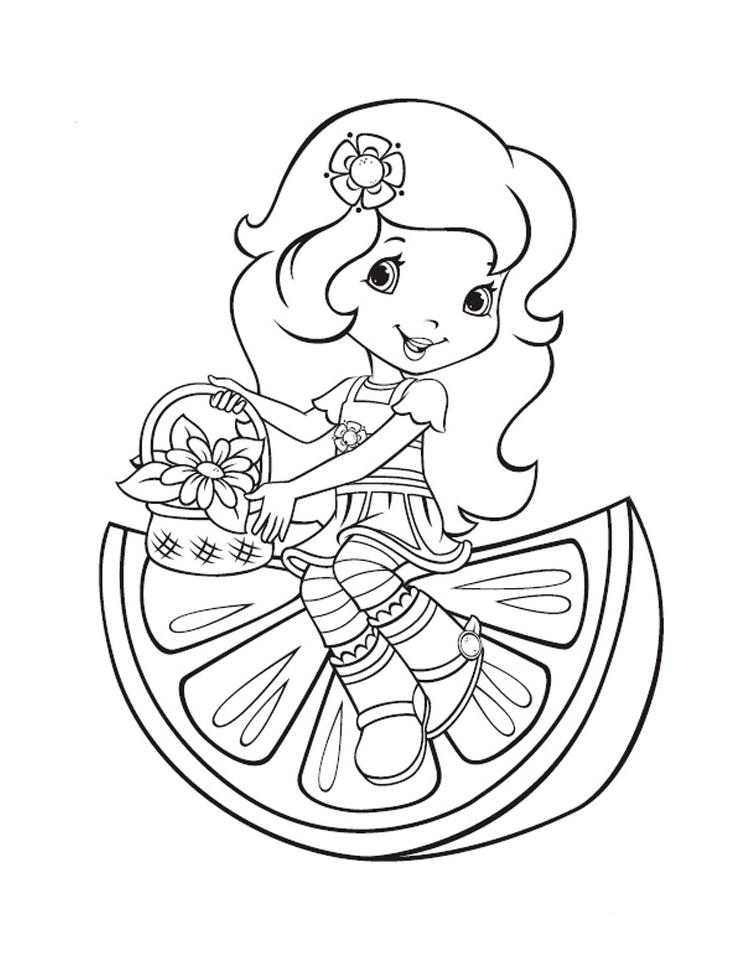 Раскраска Принцесса Апельсинка распечатать или скачать ...