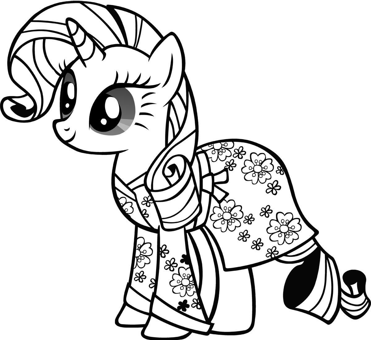 Раскраска Моя маленькая пони Рарити распечатать или ...