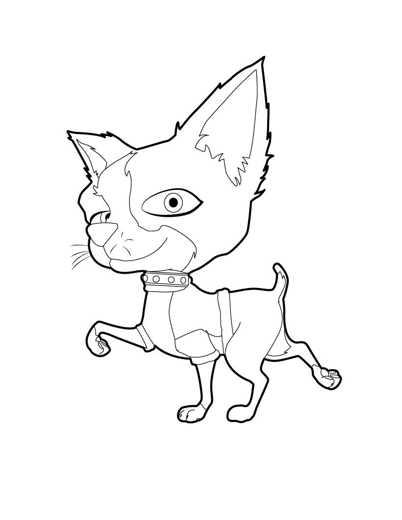 Раскраска Собачка Кики распечатать или скачать бесплатно