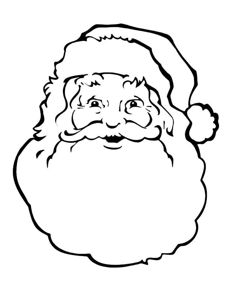 Раскраска Неожиданное появление Деда Мороза распечатать ...