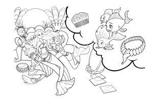 Раскраски Барби русалочка распечатать или скачать бесплатно