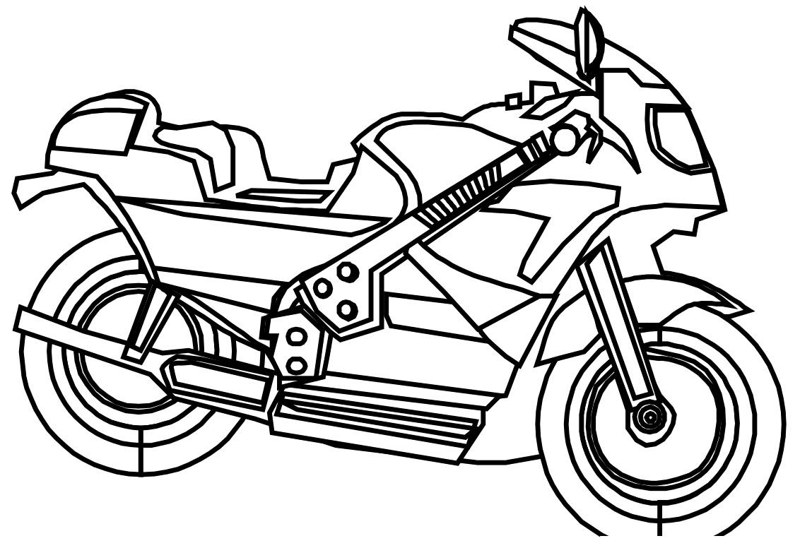 Раскраска Мотоцикл распечатать или скачать бесплатно