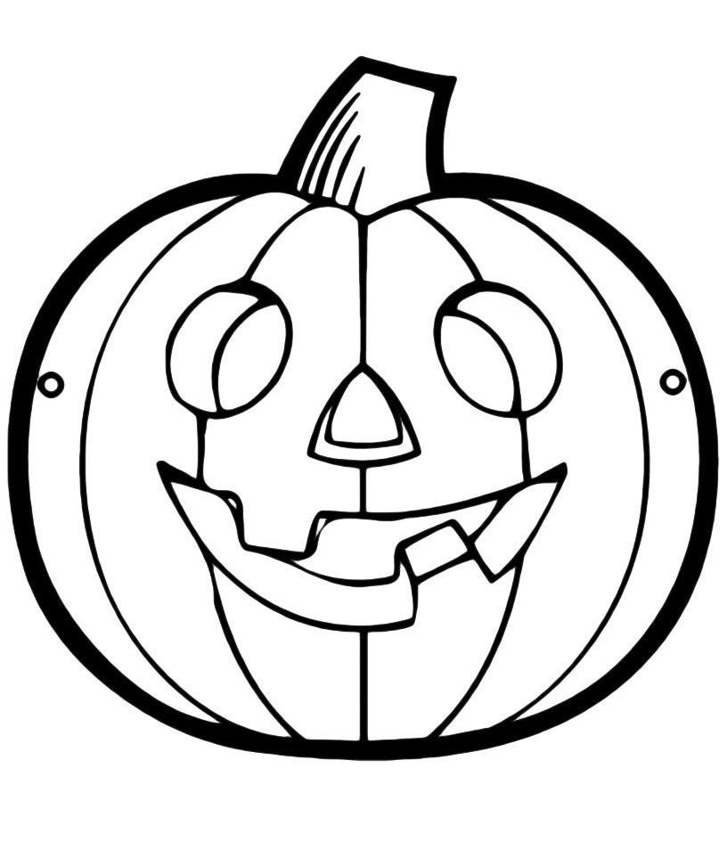 Раскраска Тыква на Хэллоуин распечатать или скачать бесплатно