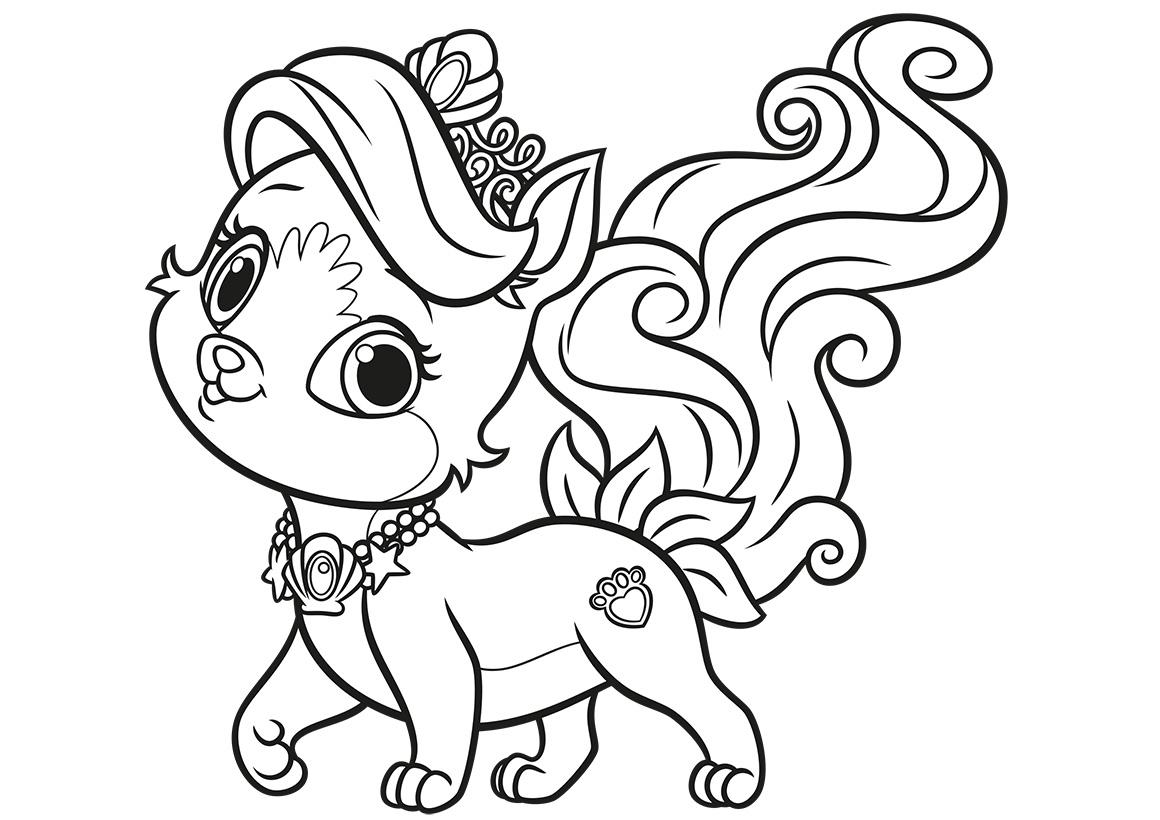 Раскраска Питомец Ариэль котёнок Жемчужинка распечатать ...