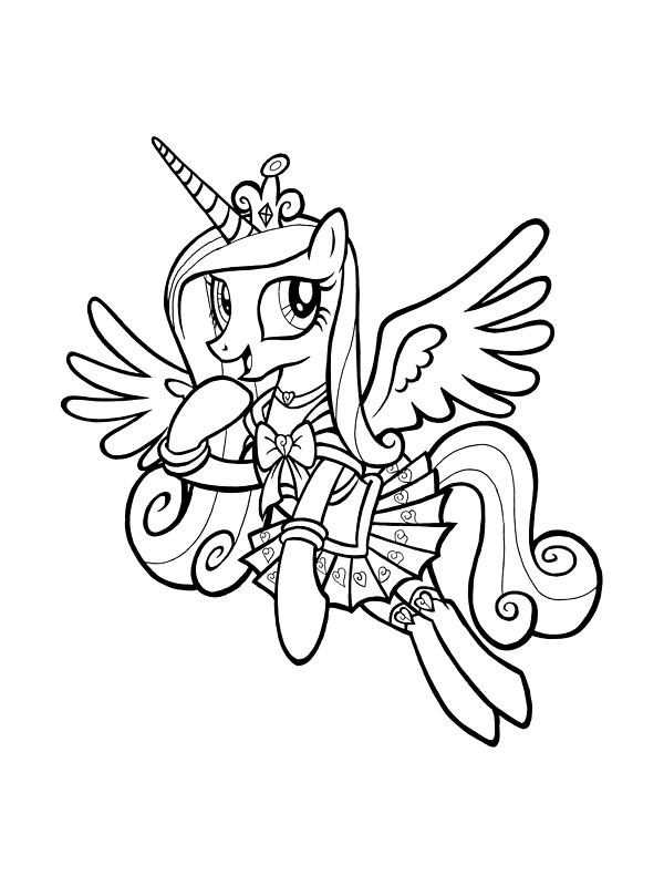 Раскраска Принцесса Каденс распечатать или скачать бесплатно