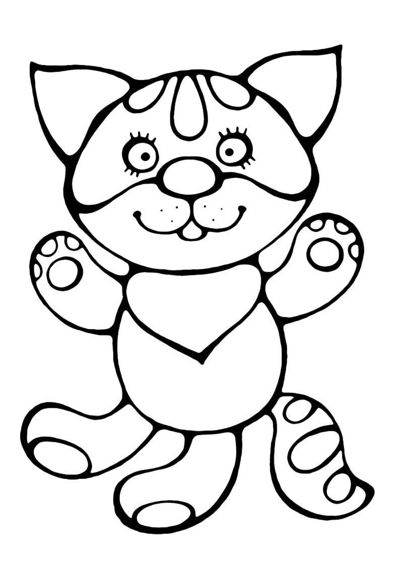 Раскраска Сказочный котёнок распечатать или скачать бесплатно